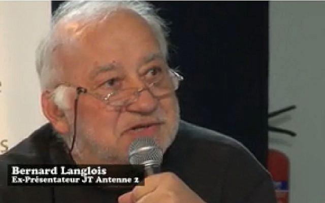 Bernard Langlois en 2013 (Crédit: capture d'écran Dailymotion/Presse et Cité)