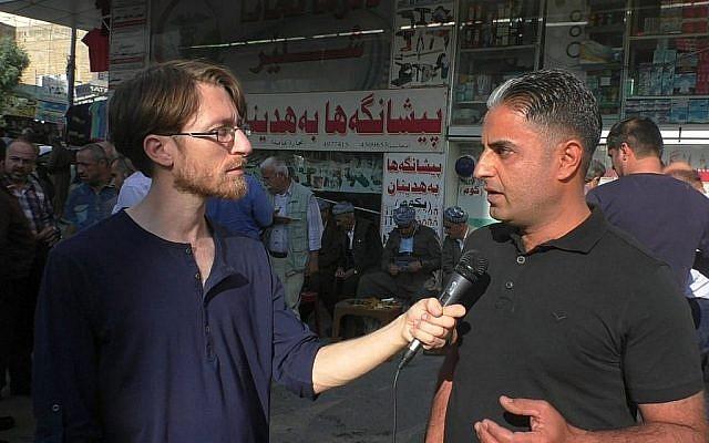 Le sentiment kurde envers Israël est toujours présent, mais les espoirs sont faibles concernant une influence kurde sur le gouvernement irakien (Ziv Genesove / Times of Israël)