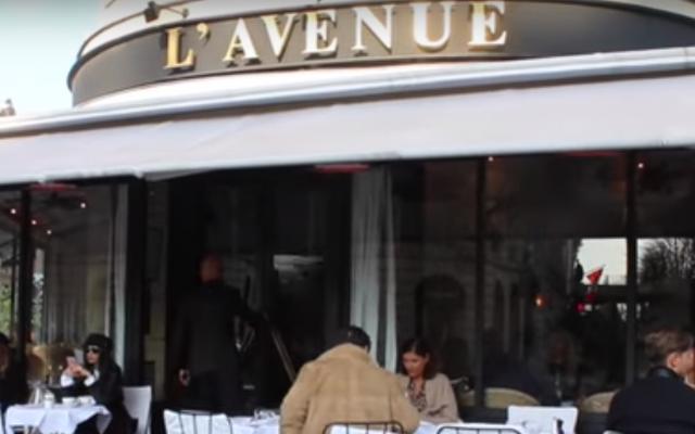 Le restaurant l'Avenue à Paris, dans le 8ème arrondissement, accusé de discrimination (Capture d'écran : YouTube)