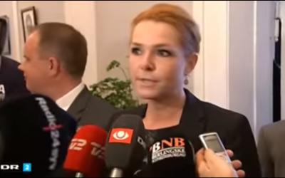La ministre danoise à l'Intégration  Inger Støjberg (Capture d'écran : YouTube)