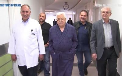 Abbas à l'hôpital (Capture d'écran : Vidéo Times of Israel)