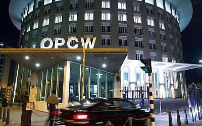 Organisation pour l'interdiction des armes chimiques (OIAC) à La Haye, (en anglais Organisation for the prohibition of chemical weapons, OPCW). (Capture d'écran Twitter)