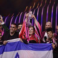 La gagnante israélienne du concours de l'Eurovision 2018, Netta Barzilai. (Capture d'écran Twitter)