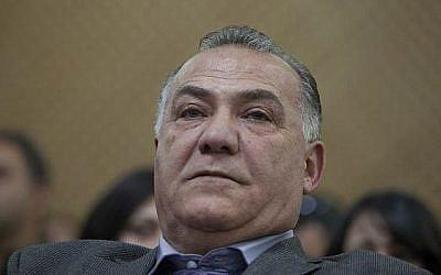 Ali Salam, maire de Nazareth, comparaît devant la Cour suprême à Jérusalem le 30 janvier 2014 (Flash90).