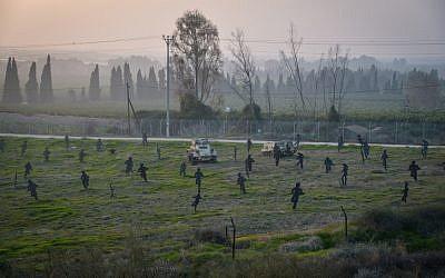 Un site reconstituant la bataille de la guerre d'Indépendance de 1948 entre les combattants du kibboutz Yad Mordechai et l'armée égyptienne dans le sud d'Israël le 18 janvier 2017. (Flash90)