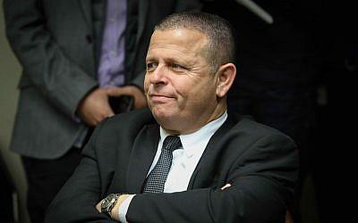Le député de l'Union sioniste lors d'une réunion de faction de son parti à la Knesset, le 22 janvier 2018 (Crédit : Flash90)