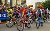 Départ de la dernière étape du Giro d'Italia, à Beer Sheva, le 6 mai 2018. (Crédit : Flash90)