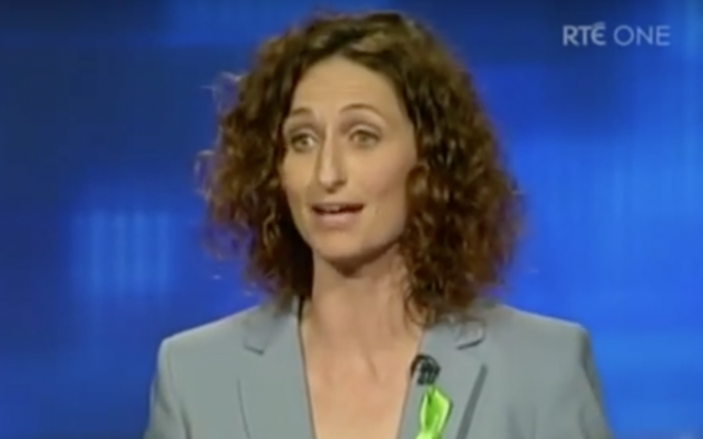 Lynn Boyland, députée du parti Sinn Fein, en Irlande. (Crédit : capture d'écran YouTube)