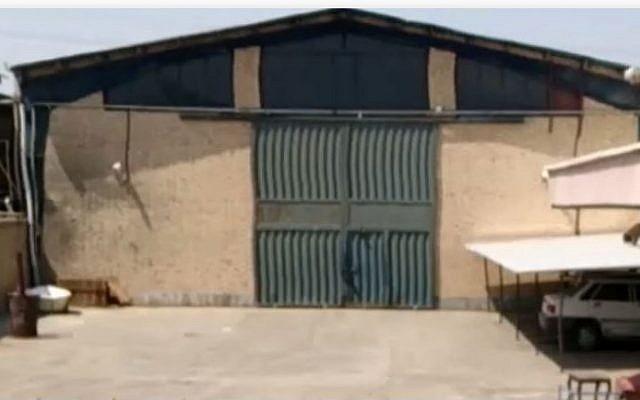 Un entrepôt à Shorabad, dans le sud de Téhéran, où des agents du Mossad ont découvert et extrait des dizaines de milliers de dossiers secrets concernant le programme d'armes nucléaires de l'Iran (Cabinet du Premier ministre).