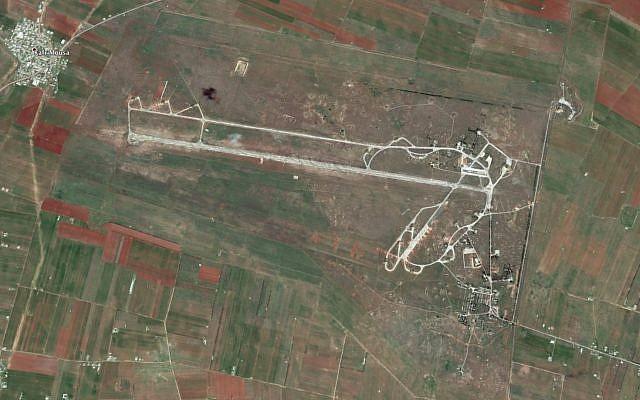 La base aérienne militaire d'al-Qusayr dans l'ouest de la Syrie. (Google Earth)