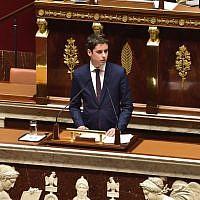 Gabriel Attal, porte-parole du gouvernement. (Capture d'écran Twitter)