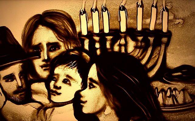 L'art en sable de Kseniya Simonova raconte l'histoire du peuple juif depuis sa création jusqu'à aujourd'hui (Autorisation)