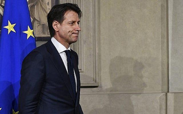 Le Premier ministre Giuseppe Conte, au palais présidentiel à Rome, le 27 mai 2018,. (Crédit : AFP / Vincenzo PINTO)