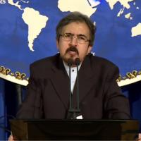 Le porte-parole du ministère iranien des Affaires étrangères, Bahram Qasemi, informe les journalistes lors d'une conférence de presse à Téhéran le 22 août 2016. (Capture d'écran YouTube)