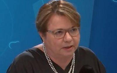 Simona Frankel, le 15 mai sur la RTBF (Crédit: capture d'écran Youtube)