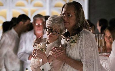 Jeffrey Tambor, à droite, et son ex-épouse interprétée par  Judith Light, dans la saison un de'Transparent' (Autorisation : 'Transparent)