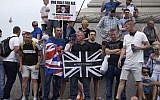 Les partisans du porte-parole d'extrême-droite  Robinson manifestent sur Trafalgar square dans le centre de Londres, le 9 juin 2018 (Crédit :   / AFP PHOTO /  AND Niklas HALLEN)