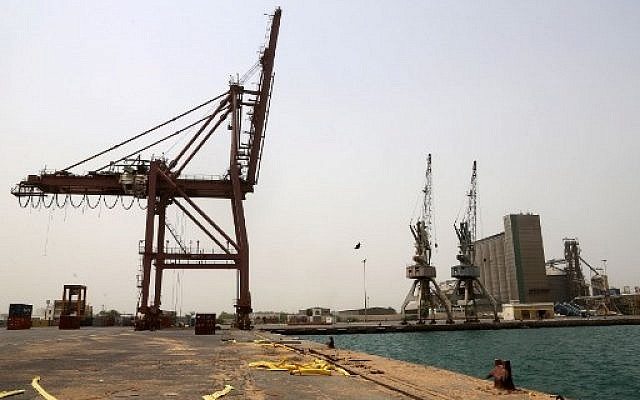Le port de la ville de Hodeida, au Yemen, le 24 juin 2018. (Crédit : AFP PHOTO / ABDO HYDER)