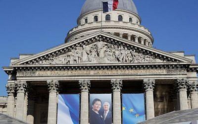 Le Panthéon s'apprête à recevoir les dépouilles d'Antoine et Simone Veil. Photo prise à Paris le 28 juin 2018. (Crédit : AFP / Thomas SAMSON)