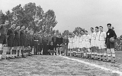 Compétition de football de Tsahal non datée (Avec l'aimable autorisation des archives de Tsahal et du ministère de la Défense).