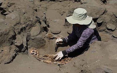 Les dépouilles des enfants sacrifiés à l'époque de la civilisation Chimu vont être exposés dans un musée au Pérou. (Crédit : AFP TV)