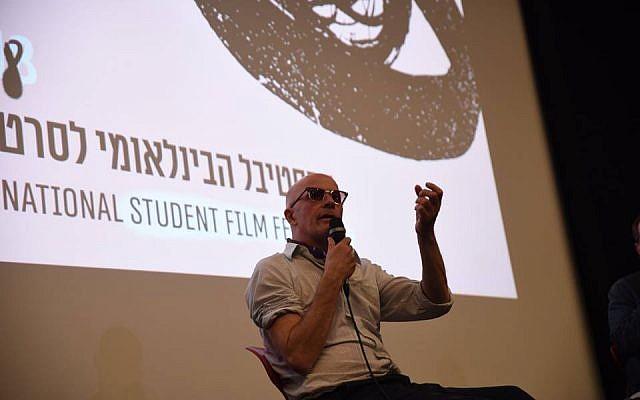 Jacques Audiard à l'Université de Tel Aviv (Crédit: Amis français de l'université de Tel Aviv)