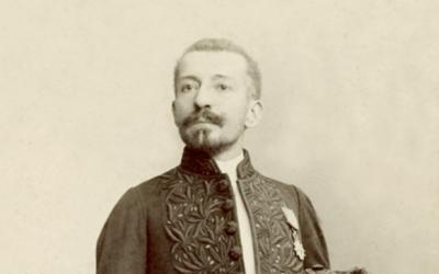Pierre Loti le jour de sa réception à l'Académie, le 7 avril 1892 (Crédit : domaine public)