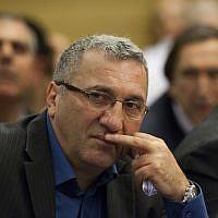 Le député Robert Tiviaev du parti Kadima, le 3 décembre 2012. (Crédit : Yonatan Sindel/FLASH90)