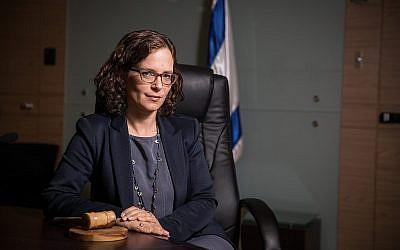 La députée Rachel Azaria à la Knesset le 17 juin 2017. (Crédit : Hadas Parush/Flash90)