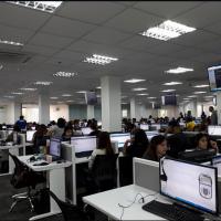 Le call-center d'IBD Marketing Inc avant le raid mené le 6 juin par la police des Philippines (Capture d'écran : Facebook)
