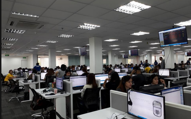 Le call-center d'IBD Marketing Inc avant le raid mené le 6 juin par la police des Philippines (Capture d'écran : Facebook)