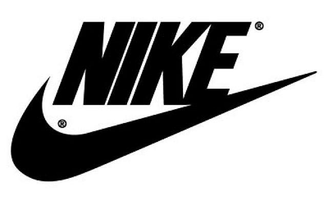 Logo de l'équipementier américain Nike. (Crédit : domaine public via Wikimedia)