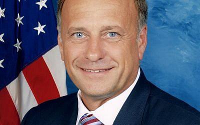 Steve King, représentant républicain de l'Iowa à la Chambre des représentants des États-Unis. (Crédit : domaine public)