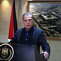 Nabil Abu Rudeineh, porte-parole du président de l'AP Mahmoud Abbas (Crédit : Flash90)