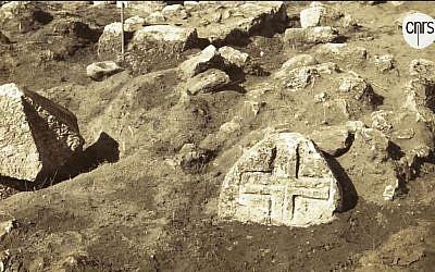 Ancien cimetière croisé d'Atlit (Crédit: capture d'écran CNRS)