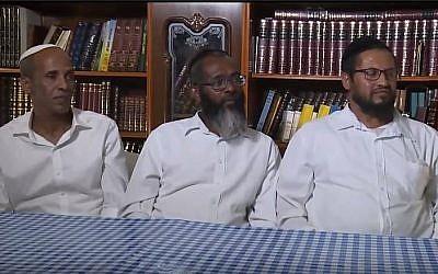 Des employés de la société Barkan, qui ont changé de poste en raison de doute sur leur judéité. (Crédit : capture d'écran Kan)