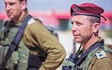 Le colonel Avi Bluth, chef de brigade d'un commando d'élite (Crédit : porte-parole de l'armée israélienne)