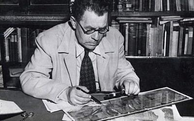 Professeur Eleazar Sukenik. (Crédit : autorisation)