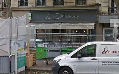 Vue Google Street View de la boulangerie La Délicieuse, boulevard Voltaire à Paris (Crédit: capture d'écran)