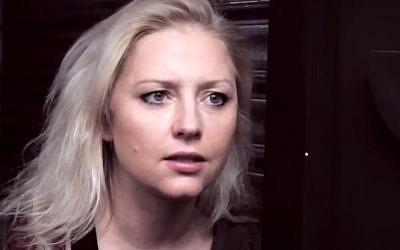 L'actrice franco-polonaise Monika Ekiert (Crédit: Capture d'écran Monika Ekiert/Youtube)