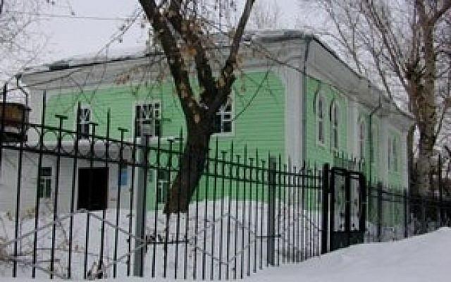 La synagogue d'Omsk, en Russie. (Crédit : JTA/ Ezra Nathan)