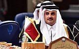 L'émir qatarien Sheikh Tamim bin Hamad al-Thani participe au sommet du Conseil de coopération du Golfe (CCG) au palais Bayan à Koweït City le 5 décembre 2017. (GIUSEPPE CACACE/AFP/Getty Images)