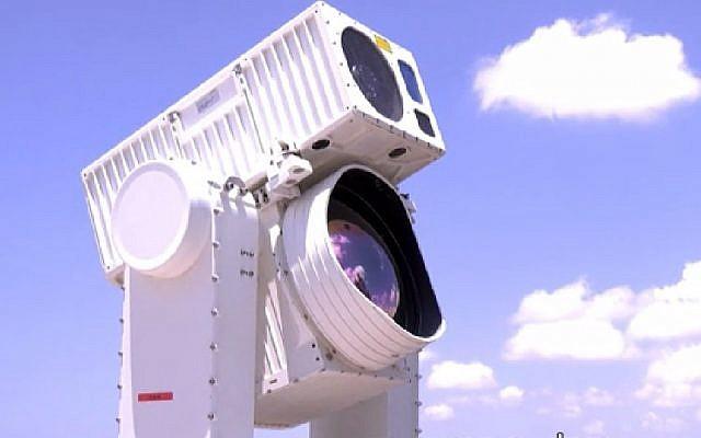 Capture d'écran de la vidéo sur le système Sky Spotter, qui est utilisé pour repérer les cerfs-volants et les ballons lancés en Israël depuis Gaza, juin 2018. (Capture d'écran de Hadashot news)