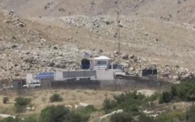 Un poste de l'ONU dans la zone tampon démilitarisée entre Israël et la Syrie sur le plateau du Golan aurait été repris par les forces pro-Assad en juin 2018. (Capture d'écran Kan)