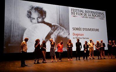 Cérémonie d'ouverture de la 46e édition du Festival international du film de la Rochelle, le 29 juin 2018. (Crédit :  AFP PHOTO / XAVIER LEOTY)