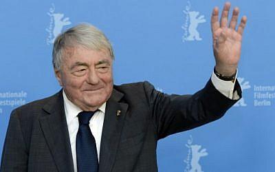 Claude Lanzmann, le 14 février 2013. (Crédit : AFP / GERARD JULIEN)