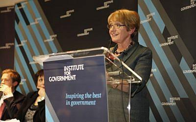 La députée du Labour Margaret Hodge. (Crédit : Flickr/The Institute for Government)