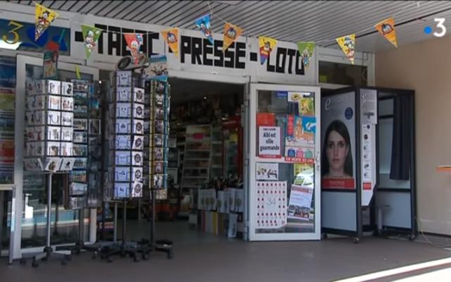 Illustration : Un bureau de tabac en France (Capture d'écran : YouTube)