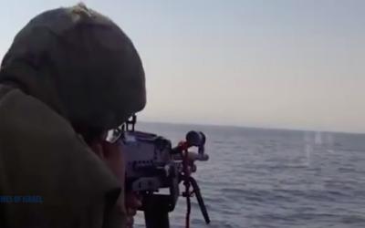 Premier exercice de la marine israélienne en France depuis 55 ans (Crédit : capture d'écran vidéo TOI)
