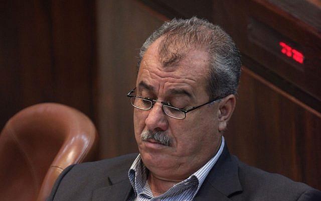 Mohammad Barakeh en 2011, quand il était membre du parti Hadash (Crédit : Kobi Gideon / Flash90)